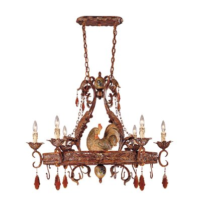 Clyde Chandelier Pot Rack with 6 Light by Savoy House