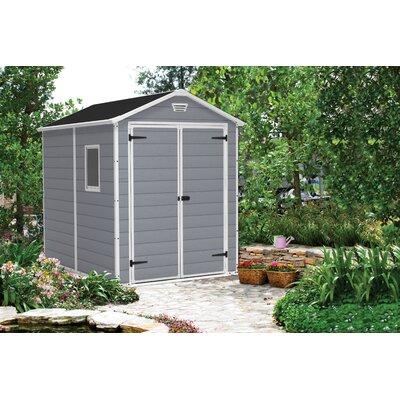 keter manor 6 ft w x 8 ft d resin storage shed reviews. Black Bedroom Furniture Sets. Home Design Ideas
