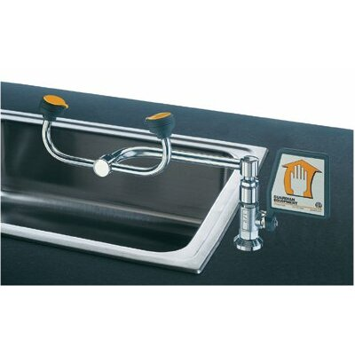 Guardian Equipment Deck Mount 90° Swivel Eye Washes - 2-head 90 degree swiveleye wash left hand mount