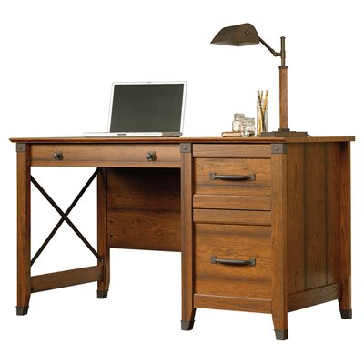 Sauder Carson Forge Computer Desk With 3 Storage Drawers