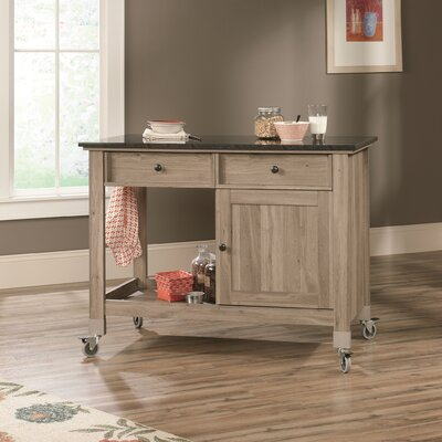 Miscellaneous Storage Kitchen Island with Faux Slate Top Product Photo