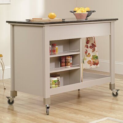 Original Cottage Kitchen Island with Slate Top Product Photo