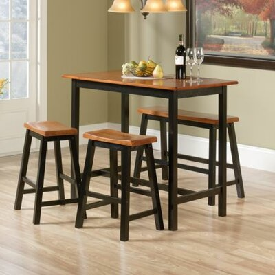 sauder edge water 4 piece counter height pub table set