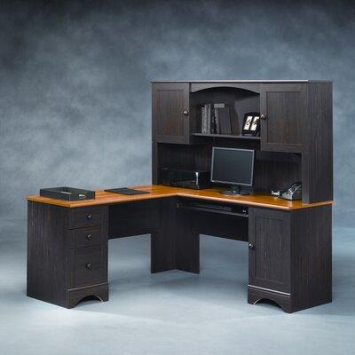 Sauder Harbor View L Shape Desk With Hutch Amp Reviews Wayfair