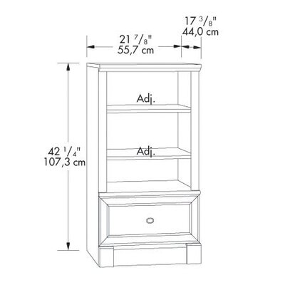 "Sauder Palladia 42.25"" Standard Bookcase"