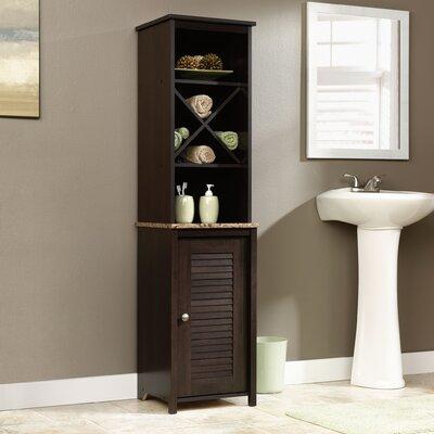 Sauder peppercorn freestanding linen tower reviews wayfair - Free standing linen cabinets for bathroom ...