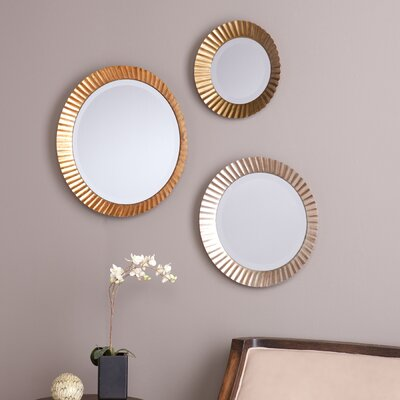 Lora 3 Piece Wall Mirror Set by Wildon Home ®