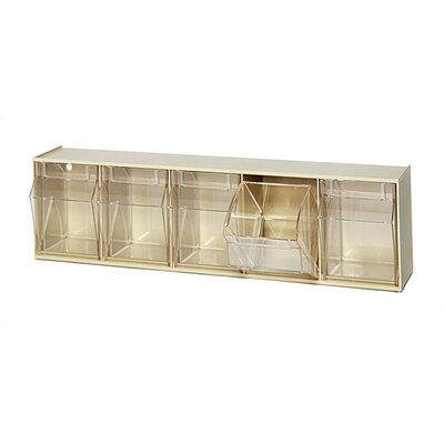Quantum Storage Clear Tip Out Bins (5 Compartments)
