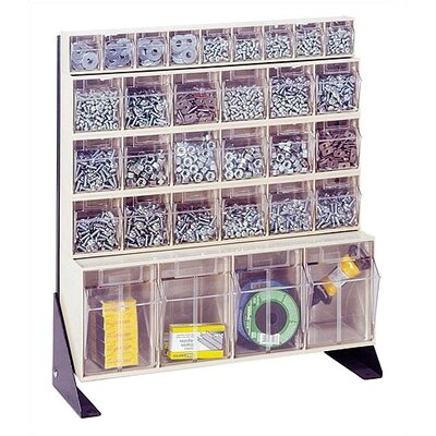 """Quantum Storage 28"""" Single Sided Floor Stand Storage Unit withTip Out Bins"""