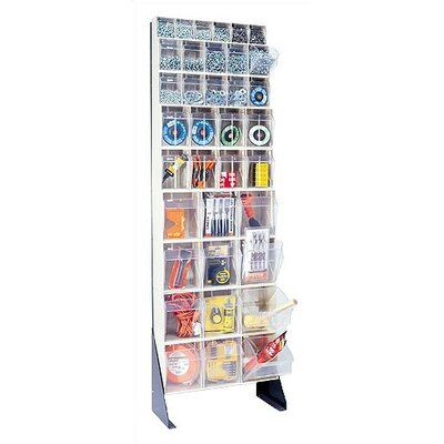 "Quantum Storage 75"" Single Sided Floor Stand Storage Unit with Tip Out Bins"
