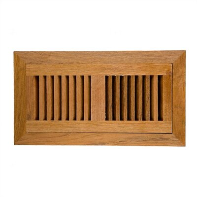 "Image Wood Vents 6.75"" x 12.25"" Brazillian Cherry Wood Vent Cover"