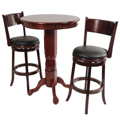Palmetto 3 Piece Pub Table Set by Boraam