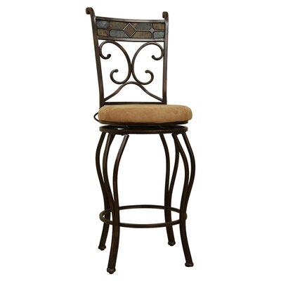 "Boraam Industries Inc 24"" Swivel Bar Stool with Cushion"