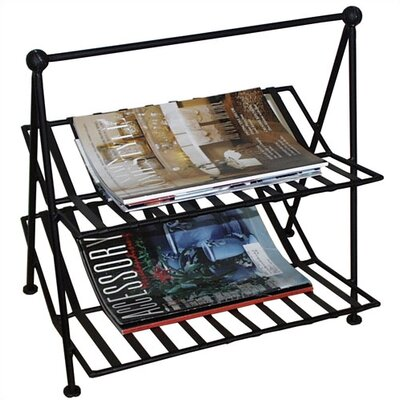 Black Iron Magazine Rack by Pangaea