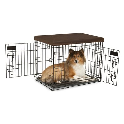 Petmate Home Decor 2-Door Wire Kennel with Divider