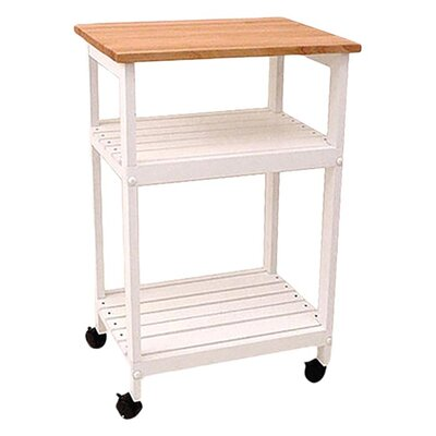 Catskill Craftsmen, Inc. Cottage Microwave Kitchen Cart with Butcher Block Top