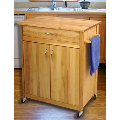Catskill Craftsmen, Inc. Mid Size Kitchen Cart with Butcher Block Top