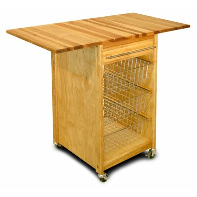 Kitchen Cart with Butcher Block Top Product Photo
