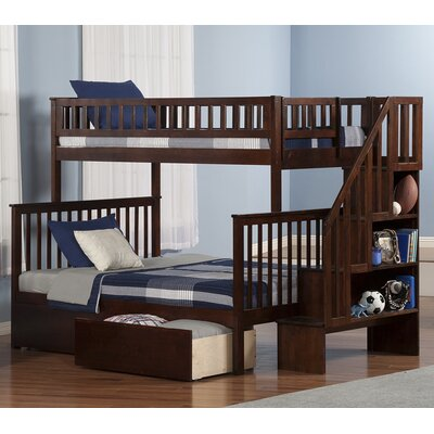 Atlantic Furniture Woodland Twin Over Full Bunk Bed With 2
