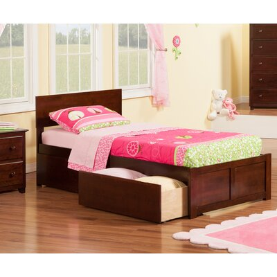 Atlantic Furniture Orlando Extra Long Twin Panel Bed With Storage Reviews Wayfair