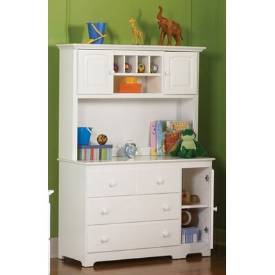 Windsor 3 Drawer Changing Table with Hutch by Atlantic Furniture