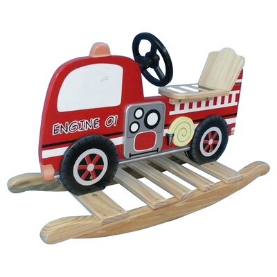 Trains and Trucks Fire Engine Rocker by Teamson Kids