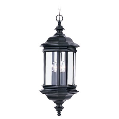 Sea Gull Lighting Hill Gate 3 Light Outdoor Hanging Lantern