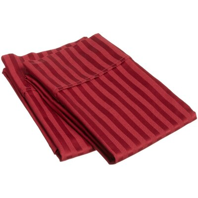 400 Thread Count Egyptian Cotton Stripe Pillowcase by Simple Luxury