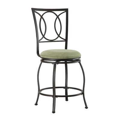 Plush Bar Stools 24 Swivel Bar Stool With