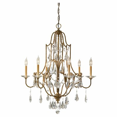 Valentina 6 Light Chandelier by Feiss