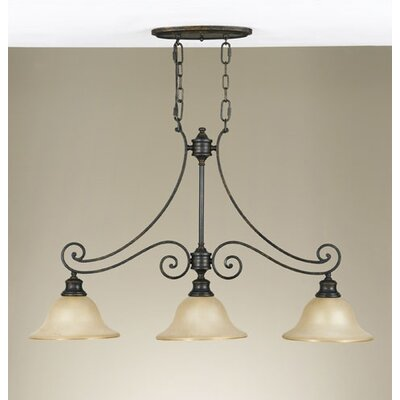 Cervantes 3 Light Kitchen Island Chandelier by Feiss