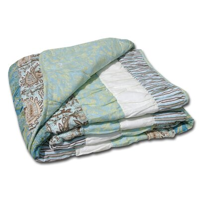 Paradise Cotton Ruched Throw Blanket by Greenland Home Fashions
