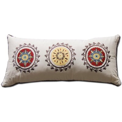Andorra Embroidered Cotton Boudoir Pillow by Greenland Home Fashions