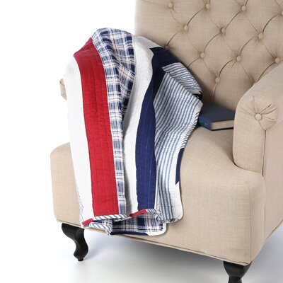 Nautical Stripe Cotton Throw by Greenland Home Fashions