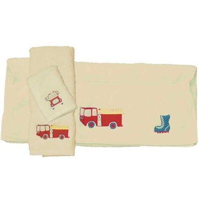 Patch Magic Fire Truck 3 Piece Towel Set