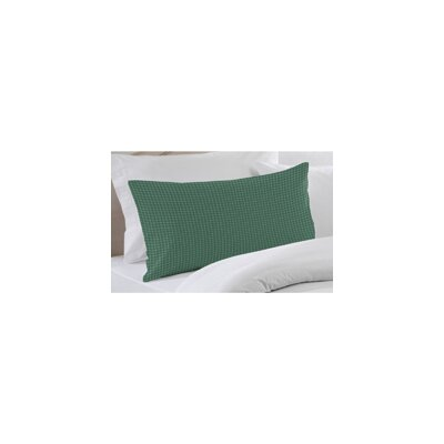 Green and White Plaid Pillow Sham by Patch Magic