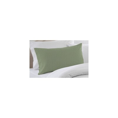 Green Mint and White Gingham Checks Pillow Sham by Patch Magic