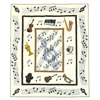 Patch Magic Music Cotton Throw