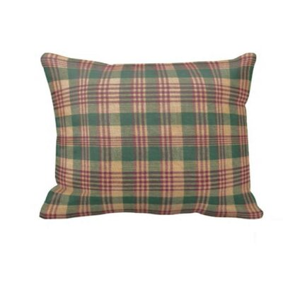 Green and Warm Brown / Red Plaid Pillow Sham by Patch Magic