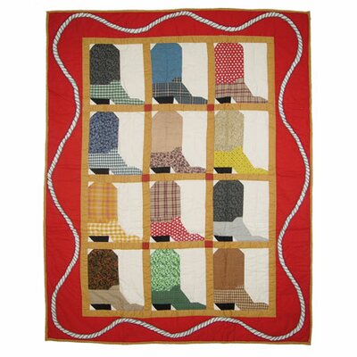 Boots Crib Quilt by Patch Magic