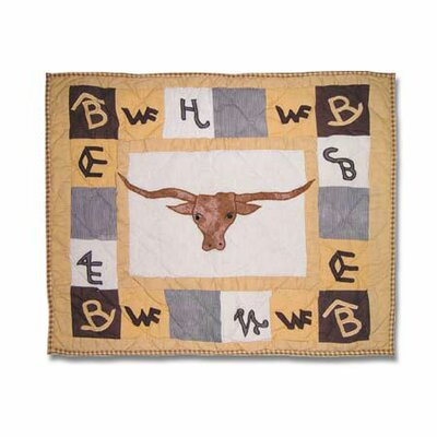 Brand Steer Pillow Sham by Patch Magic