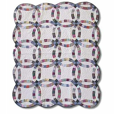 Patch Magic Country Wedding Ring Cotton Throw Quilt