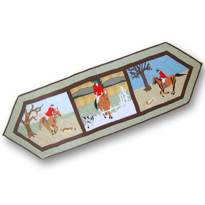 Patch Magic Fox Hunt Table Runner