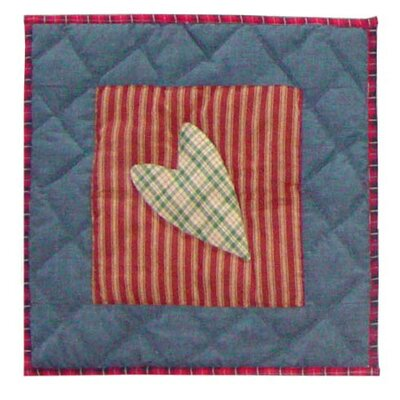 Primitive Hearts Cotton Throw Pillow by Patch Magic