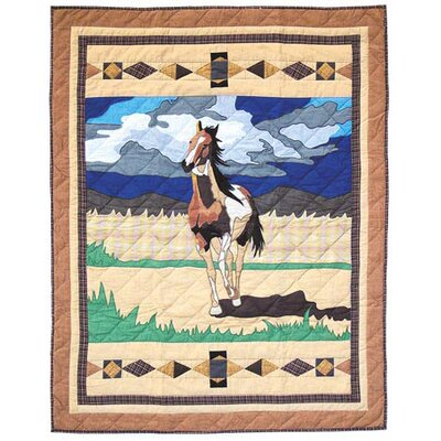 Wild Horses Crib Quilt by Patch Magic