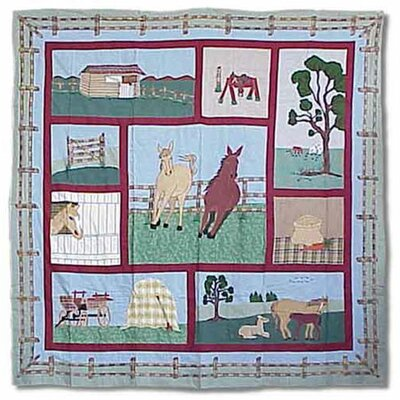 Horse Cotton Shower Curtain by Patch Magic