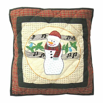 Patch Magic Jolly Snowmen Cotton Throw Pillow