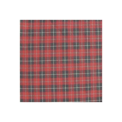 """Patch Magic Red and Black Plaid White Lines 54"""" Curtain Valance"""