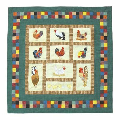 Patch Magic Rooster Cotton Shower Curtain