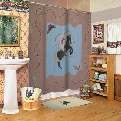 Patch Magic Cowboy Cotton Shower Curtain